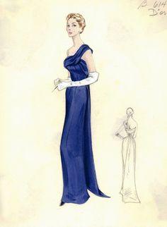 Figurini di moda vintage Dior