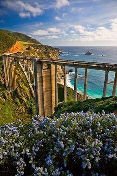 Bixby Bridge, Coast Highway , Monterey, California by Eva0707