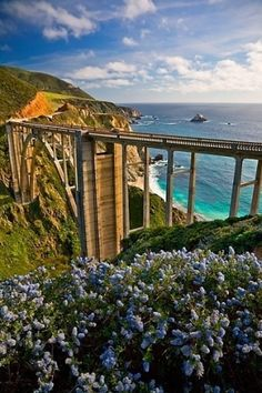 Bixby Bridge, Coast Highway , Monterey, California by Eva0707