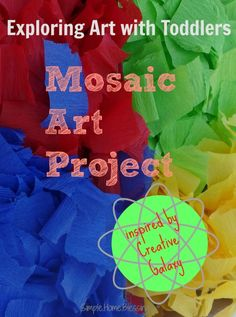 a review of and craft inspired by Amazon Prime Instant Video's #CreativeGalaxy show for toddlers and preschoolers. Craft is mosaic art with paper mache