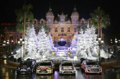 WRC ‏@OfficialWRC 13m  1st time ever in the same photo? Ford, Citroen, VW & Hyundai WRC Cars abreast outside the Casino in Monaco last night