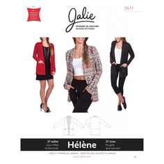 This Jalie 3677 Helene Open Front Shawl Collar Cardigan Sewing Pattern for Women & Girls is just one of the custom, handmade pieces you'll find in our patterns & blueprints shops.