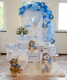 Being a baby shower hostess doesn't have to be stressful! Relax, put your feet up, and get ready to host the cutest baby shower party ever! Cute Baby Shower Ideas, Simple Baby Shower, Baby Shower Decorations For Boys, Baby Shower Themes, Birthday Decorations, Teddy Bear Baby Shower, Baby Boy Shower, Baby Shower Gifts, Shower Party