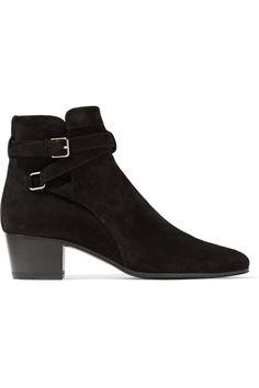 Saint Laurent | Blake suede ankle boots | NET-A-PORTER.COM