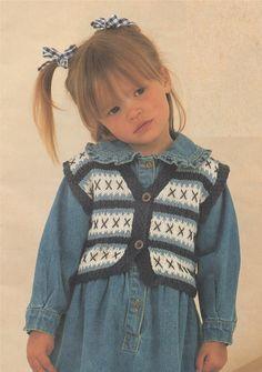 PDF Childrens Waistcoat Knitting Pattern : Childs / Toddlers / Baby 20 22 24 26 28 30 inch chest . Boys and Girls . by PDFKnittingCrochet on Etsy
