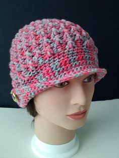 Red heart chemo cap crochet pattern breastcancerawareness this is a free pattern from yarnspirations but is very cute in varigated yarn 2013 june chemo hat dt1010fo
