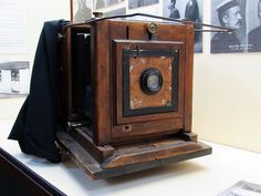 Hobart Gaol camera and mugshot books 1891-1901, Tasmania. Marion's Excelsior Studio Camera was manufactured in Soho Sq., London, around 1890s. The firm operated from this address between c.1866 - 1913.