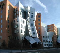 The MIT's Stata Center houses CSAIL, LIDS, and the Department of Linguistics and Philosophy designed by Canadian-American architect Frank Gehry (b.1929)