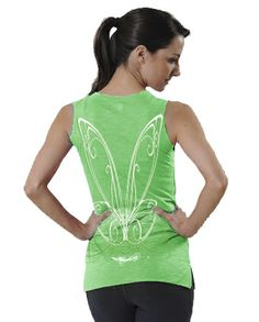 Ran in the t-shirt version of this for the first Tinker Bell Half-awesome, moisture wicking shirt!  And it glows in the dark too!RawThreads.  Glow in the dark Green Fairy Wings Tank Top...I.  Want.  This.