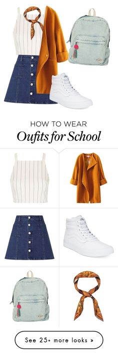 """getting ready for school"" by beautyqueenzblogez on Polyvore featuring Topshop, Lipsy, Hermès, Vans and Billabong"