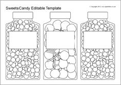 Worksheets Candy Coloring Page See More Write Adjectives On The Labels To Describe Sweets Editable Jar
