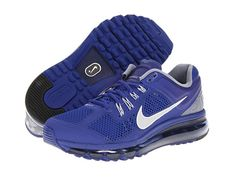 Lace up the Nike® Air Max+ 2013 and get ready to ride that plushy, dynamic wave!  http://www.zappos.com/nike-air-max-2013-deep-royal-blue-cool-grey-white-reflective-silver