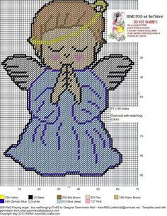 Boy Angel plastic canvas
