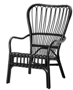 Storsele Black Rattan Chair, http://remodelista.com/posts/furniture-high-low-black-rattan-chair