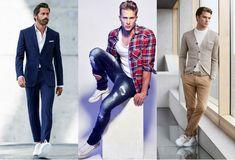 Você precisa de um tênis branco para andar na moda. Um belo par de tênis brancos é tudo o que você precisa para andar na moda nos próximos meses (até no inverno). Ele combina até com terno e gravata.