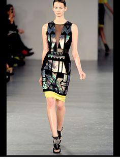 David Koma Londra - Spring Summer 2012 Ready-To-Wear - Shows - Vogue. David Koma, Fashion Show, Fashion Design, Fashion Trends, High Fashion, Fashion Inspiration, Fashion Beauty, Fashion Looks, Editorial Fashion