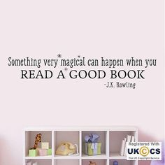 Read Book Harry Potter J K Rowling Quote Wall Art Stickers Decals Vinyl Home Roo