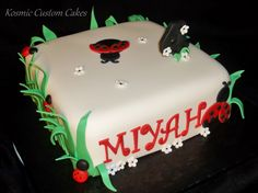 Little Ladybug Cake For more pics - Find us on Facebook TODAY! Kosmic Custom Cakes