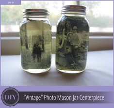 Parties and events can be fun…and stressful. I tend to run out of creative juice about two weeks into the planning process; generally happens when the discussion of centerpieces comes up. Here's an easy (three step) DIY project for creating a centerpiece with a vintage heirloom look. You'll Need: Quart-sized Mason jar with lid 4″ …