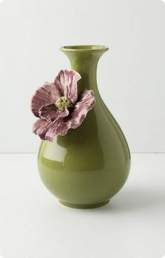 Ceramic Flower Vase from Anthro - white?