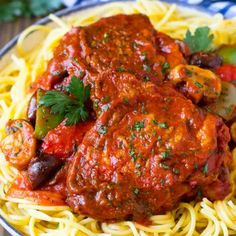 Slow Cooker Recipes - Dinner at the Zoo Bavarian Sauerkraut Recipe, Sauerkraut Recipes, Chicken Cacciatore, Slow Cooker Chicken, Slow Cooker Recipes, Main Dishes, Dinner Recipes, Food And Drink, Pasta