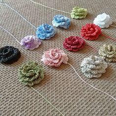 roses crochet, bijoux floral, motif fleurs : Mercerie par mywealth