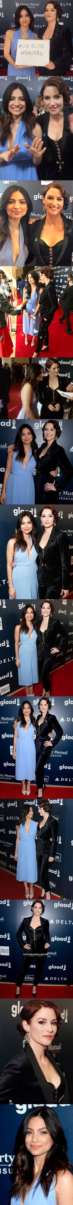 Chyler Leigh and Floriana Lima on 2017 Glaad awards <3 - Sanvers - Flyler - Alex Danvers - Maggie Sawyer - Supergirl