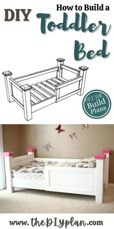 Building your own toddler bed allows you to customize it to match the bedroom furniture and color. Once your child outgrows the toddler bed, it could be always be sold for someone else to use it. Check out free plans on how to make DIY Toddler Bed.   Creative Woodworking Ideas   Best Selling Woodprojects   Wood Working for Beginners   Home Improvement   #freeplans #diy #woodworking #diybed #farmhousedecor #woodproject #farmhousestyle #bedroom #carpentrydiy #furniture