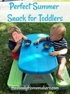 This is the perfect summer snack for toddlers! Plus, check out our adorable toddler sized picnic table. AND our adorable toddlers! Good Healthy Recipes, Healthy Kids, Real Food Recipes, Healthy Food, Health And Wellness Quotes, Health And Nutrition, Wellness Activities, Activities For Kids, Tractor Tire