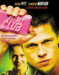 Fight Club - yeahhh i watched it... it was definitely good but i'm so confused...