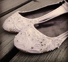 French Pleat Bridal Ballet Flats Wedding Shoes by BeholdenBridal . This is my dream come true. #dreamcometrue
