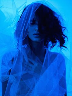 Her Blue Heaven by elle muliarchyk, via Behance