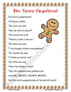 Five Yummy Gingerbread Poem Roll and Graph from Toadally Tots on TeachersNotebook.com (6 pages) - Five Yummy Gingerbread poem and a Roll and Graph activity! Props are also included for retelling :)
