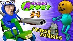 SEWER ZOMBIES vs. SHOTGUN BLAST! AMAZING FROG HALLOWEEN Part 4 (FGTEEV Pumpkin Head Costume) - YouTube
