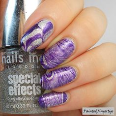 Water Marble Wednesday: Purple and Silver |
