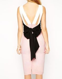 £55 ASOS Colourblock Bow Back Pencil Dress