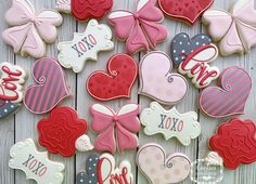 Valentines Day Cookies, Happy Valentines Day, Cookie Decorating, Candy, Fun, Decorated Cookies, Cookie Ideas, Slay, Cambridge