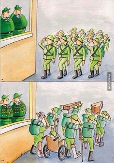 Funny pictures about The Ugly Truth Of War. Oh, and cool pics about The Ugly Truth Of War. Also, The Ugly Truth Of War photos. Pictures With Deep Meaning, Art With Meaning, Satire, Political Art, Political Cartoons, Meaningful Pictures, Powerful Pictures, Amazing Pictures, Satirical Illustrations