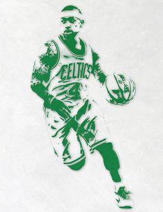 d60326fac8e7 Isaiah Thomas Boston Celtics Pixel Art 2 Art Print by Joe Hamilton