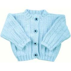 Free Knitting Pattern for a Easy Rib Baby Jacket Baby Boy Knitting Patterns Free, Beginner Knitting Patterns, Baby Sweater Patterns, Baby Sweater Knitting Pattern, Chunky Knitting Patterns, Baby Patterns, Free Knitting, Baby Boy Cardigan, Cardigan Bebe