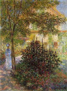 Claude Monet - Camille Monet in the Garden at Argenteuil 1876