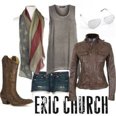 Eric church country outfit Take away those ugly fake boots and we'll be good