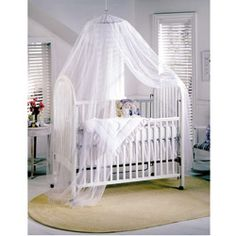 @Overstock - Drape the delicate white fabric of this sheer baby canopy over your child's crib or cradle for a sweet look. Its material softly filters the light, surrounding your baby with a tranquil ambiance. New parents will appreciate that it's easily installed.http://www.overstock.com/Bedding-Bath/Mombasa-Siam-Baby-Canopy/5947231/product.html?CID=214117 $23.99