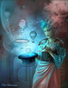 ☆ Steampunk Sorceress :: Artist Pat Brennan ☆