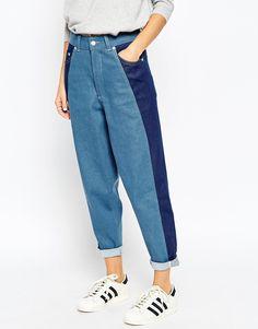 ASOS WHITE Ovoid Mom Jeans