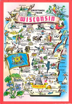 GREAT Wisconsin post card!