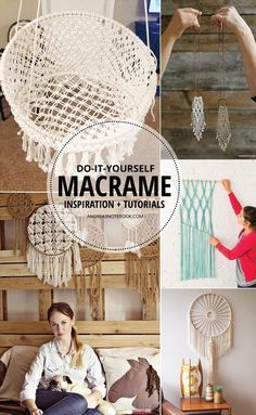 GORGEOUS DIY macrame tutorials More
