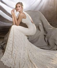 ORNANI - Robe de mariée à taille basse et dentelle | Pronovias