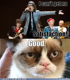 Image result for i can't get no satisfaction meme