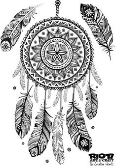Dreamcatcher coloring page                                                                                                                                                                                 More